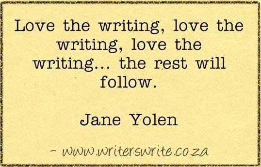 Love the writing, love the writing